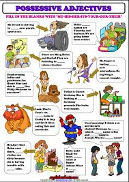 Identifying Adverbs And Adjectives Worksheets Possessive Adjectives Esl Grammar Exercise Worksheet Esl
