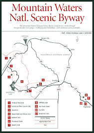 nantahala river map map of mountain waters national scenic byway driving and trails