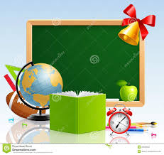 back to school greeting card with stationery stock photography
