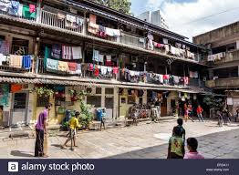 Friends Apartment by Mumbai India Asian Lower Parel Old Apartment Building Hanging