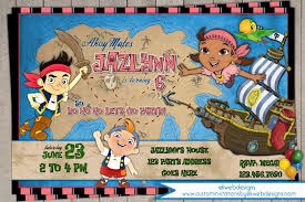 jake neverland pirates izzy birthday invitation