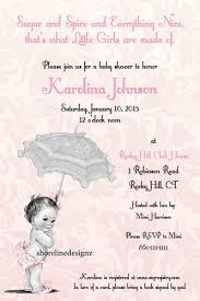 theme invitations custom vintage theme baby shower invitation girl i create you