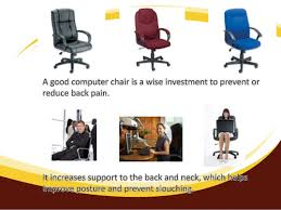 avoid back pain by choosing the correct computer chair