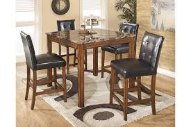 Dining Room Table Counter Height Theo Counter Height Dining Room Table And Bar Stools Set Of 5