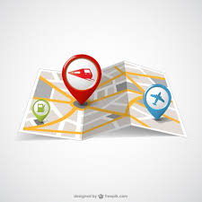 paper maps paper map and pin maps vector free