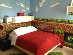bedroom minecraft bedroom ideas red thick bed linen cream floor