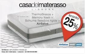 casa materasso vendita promozionale di air salus il materasso più sano sconto 25