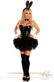 Cheap Playboy Bunny Halloween Costumes 5 Pc Sequin Bunny Costume Amiclubwear Costume Store