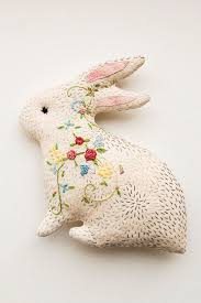 beautiful gifts bunny in bloom embroidered critter beautiful gift for mother or