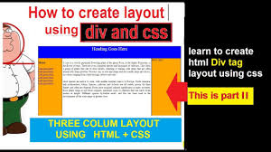 template layout div html css layout tutorial part ii create html template step by step