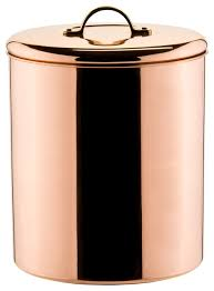 copper kitchen canisters polished copper cookie jar with brass knob 4 qt contemporary