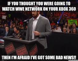 Bad News Barrett Meme - news barrett wwe network