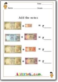 grade 3 indian rupees adding worksheet grade 2 worksheet money