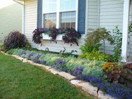 Landscape Ideas For Front Yard by Designing A Front Yard Flower Bed With Short Annuals For Sun