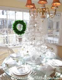 a white christmas table setting