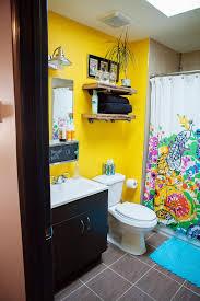 Vibrant Yellow Bathroom Eclectic With My Houzz Modern Bathroom - Modern bathroom sinks houzz