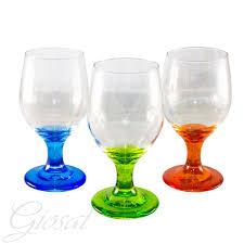 set bicchieri set di bicchieri noemi calice acqua vino vetro trasparente