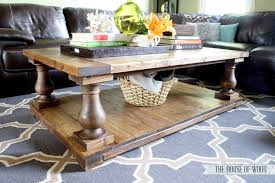 diy balustrade coffee table plans from ana white house of wood