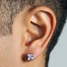 earrings for men buy chandrika pearls square princess cut royal stud earrings for