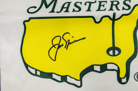 Masters Flag Lot Detail Jack Nicklaus Autographed Golf Flag