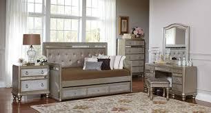 bling daybed bedroom set coaster furniture furniture cart