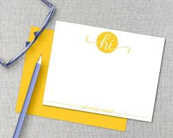 embossed note cards embossed personalized note cards 25 unique personalized stationary