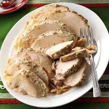 herbed turkey recipes thanksgiving herbed slow cooker turkey breast recipe taste of home