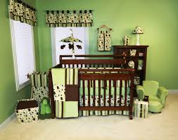 Kids Polka Dot Rug by Brown Wooden Baby Crib And Green Polka Dot Bedding Set Also Brown