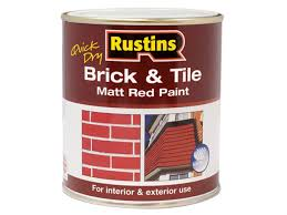 rustins rusbtpmr500q quick dry brick u0026 tile paint matt red 500ml