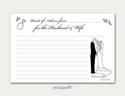 advice to the cards wedding themed personalized advice cards philosophie s