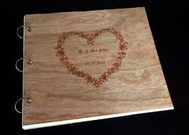 engraved wedding album gallery laser woodpecker