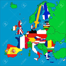 Country Map Of Europe by A Map Of Europe With All The Eu Member Countries Represented
