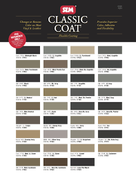 sem classic coat paint for automotive and other leather