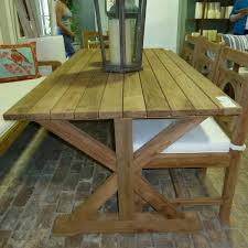 Teak Outdoor Dining Tables Dining Room Simple And Interesting Reclaimed Teak Dining Table
