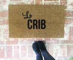 le crib doormat doormats rugs 18x30 outdoor mat custom