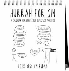 2018 easel desk calendar hurrah for gin easel calendar 2018 calendar club uk
