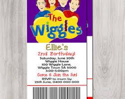 wiggles invite etsy