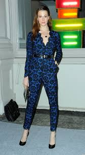 lace jumpsuits elettra wiedemann at stella mccartney opening tries lace jumpsuit
