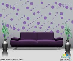 set of 24 dog paw prints wall art vinyl decals paw24 19 97 lavender circle polka dot wall decal stickers