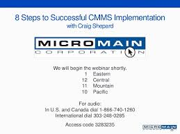 8 steps to successful cmms implementation