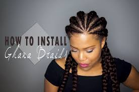how to install ghana cornrows invisible cornrows on natural hair
