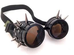 steampunk civil war spiked goggles glasses mask halloween party