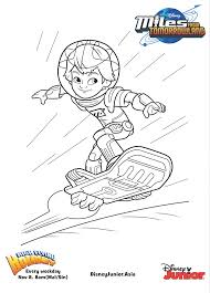 miles from tomorrowland miles colouring page disney junior