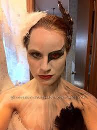 Black Swan Costume Halloween Faced Black Swan Costume