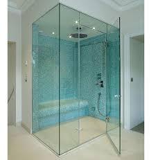 Hinged Frameless Shower Door by Luxury Bathroom With Frameless Hinged Glass Shower Doors For