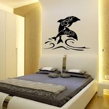 dolphin home decor online shop jumping dolphin wall stickers black newest popular
