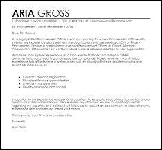 procurement officer cover letter sample livecareer