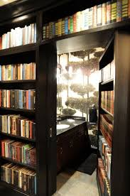 Bookcase With Doors Black Interior Small Bathroom Design With Black Secret Bookcase