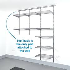 Garage Measurements Garage Wall Mounted Wire Shelving