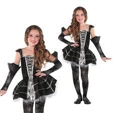 christys dress up girls midnight mischief spider web halloween